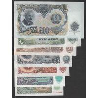 Болгария Набор из 6 банкнот 3,5,10,25,50,100,200 левов 1951 г UNC - AUNC