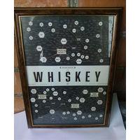 """Рамка -""""WHISKEY""""- для оформления интерьера баров, кафе, ресторанов и для дома."""