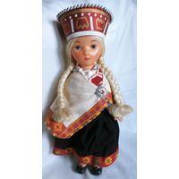 Кукла СССР в национальном латышском костюме паричковая. Кукла - латышка Байба. Полный аутфит!! Новая.