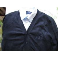 Рубашка голубая . Свитер синий (70 шерсти) Р-р 48 Angelo galasso