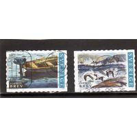 Швеция. Ми-2301,2303. Живопись.Море.Птицы.Лодки.2002
