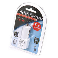 Адаптер / блок питания Robiton Twin USB2100/AUTO с USB входом.