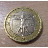 1 евро Италия 2002 год, из коллекции