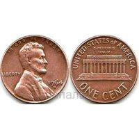 США 1 цент 1964 D