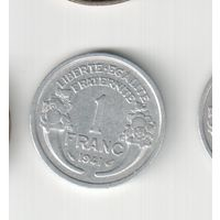 1 франк 1941 года Франции   20-21