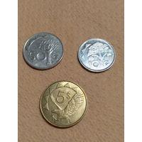 Намибия набор 3 монеты