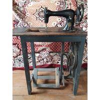 Старая швейная машинка  Германия. Редкое клеймо