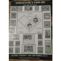 Sandafayre's KWIK-BID Аукционный бюллетень марок от 16.09.14. Англия