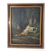 Копия картины И.Н.Крамского ,,Лунная ночь,, Холст/масло. 70/57.