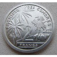 Распродажа! Коморские острова 2 франка 1964 Состояние! Все монеты с 1 рубля!!