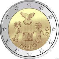 2 евро 2017 Мальта МИР UNC из ролла