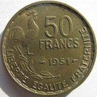 1k Франция 50 франков 1951 В ХОЛДЕРЕ распродажа коллекции