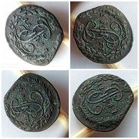 Супер лот! Денга 1787 года КМ, без оборота, брак, нестандартная заготовка!!! Замечательная, редкая сохранность для такой монеты!!!