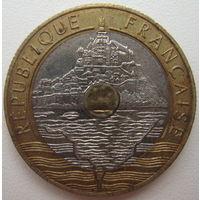 Франция 20 франков 1993 г. Монт-Сент-Мишель (d)