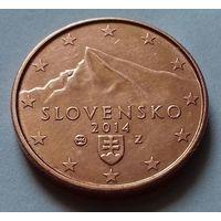 1 евроцент, Словакия 2014 г., AU