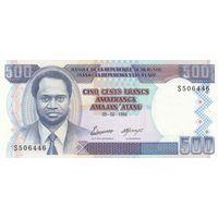 Бурунди 500 франков 1995 года (UNC)