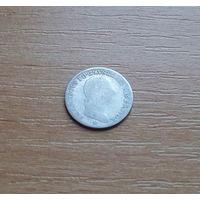 Австрийская империя, Королевство Ломбардии и Венеции, 1/4 лиры, Франц I, серебро
