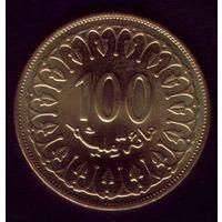 100 миллим 2011 год Тунис