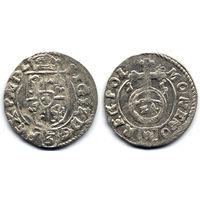 Полторак 1615, Сигизмунд III Ваза, Быдгощ. Рв - герб Абданак в щитке. Остатки штемпельного блеска!