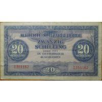 20 шиллингов 1944г. Оккупация Австрии союзными войсками