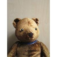Медведь плюшевый . Опилки . Мишка . 50-е. СССР 40 см.