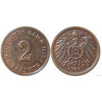 YS: Германия, Рейх, 2 пфеннига 1913A, KM# 16 (2)