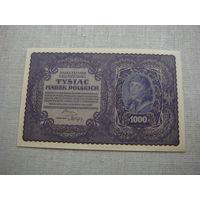 1000 марок 1919 Польша aUnc
