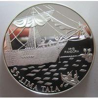 Токелау. 5 тала 1993. Корабль Пандора. Серебро (258)