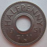 Фиджи 1/2 (пол) пенни 1951 г.