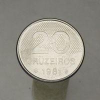 Бразилия 20 крузейро 1981
