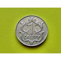 Польша. 1 злотый 1929. (1).