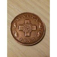 Мальта 1 цент 1977г.