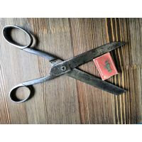 Ножницы портного, старинные. Завьялов. Огромные. Клейма. 1852 (62)