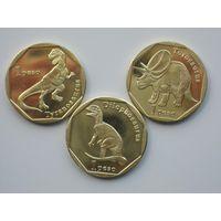 Синт-Мартен (Сен Мартен, Заморское сообщество Франции, Гваделупа) 1 песо 2018 набор из 3 монет