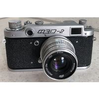 Фотоаппарат ФЭД-2 1956 г. с объективом Индустар-26м поводковым после полного сервиса