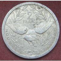6482:  2 франка 1983 Новая Каледония