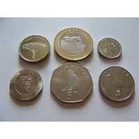Гибралтар.  набор 6 монет  5,10,20,50 пенсов - 1,2 фунта  2014-2016 год  UNC
