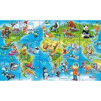 """Магниты серии """"Карта мира и животные"""". В наличии слон-обезьяна"""