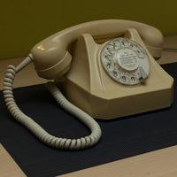Телефон дисковый Швейцария, 1970 г.