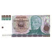 Аргентина 1000 песо образца 1983-1985 года UNC p317b
