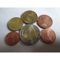 Набор евро монет Австрия 2015 г. (1, 2, 5, 10, 20 евроцентов, 2 евро)