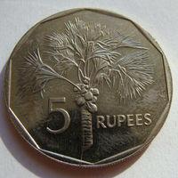 Сейшелы 5 рупий 2007 г
