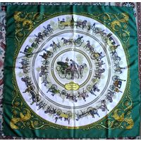 Hermes шелковый платок carre 90х90