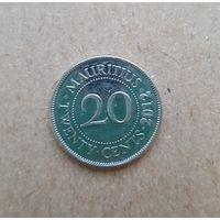 Маврикий 20 центов 2012 (Mauritius 20 cents 2012)