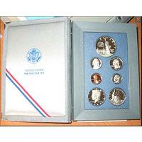 США Подарочный набор 1986 ПРУФ СЕРЕБРО 2 СВОБОДЫ АЦ