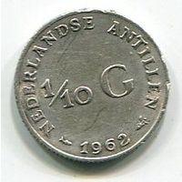 НИДЕРЛАНДСКИЕ АНТИЛЫ - 1/10 ГУЛЬДЕНА 1962