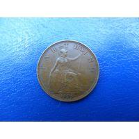 Великобритания 1 фартинг(1/4 пенни) 1929 г.