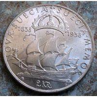Швеция. 2 кроны 1938 г.