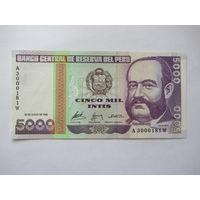 Перу, 5000, 1988 г.
