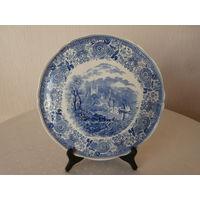 Блюдо синее Burgenland Villeroy & Boch Германия диаметр 32 см.